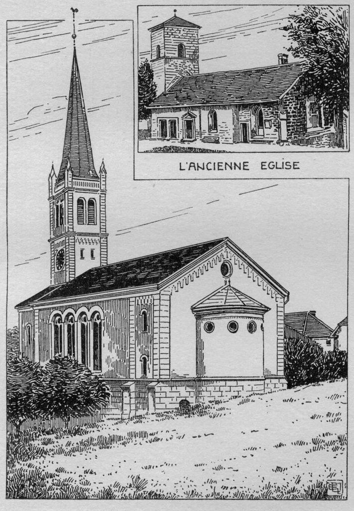 Temple des Brenets et ancienne église