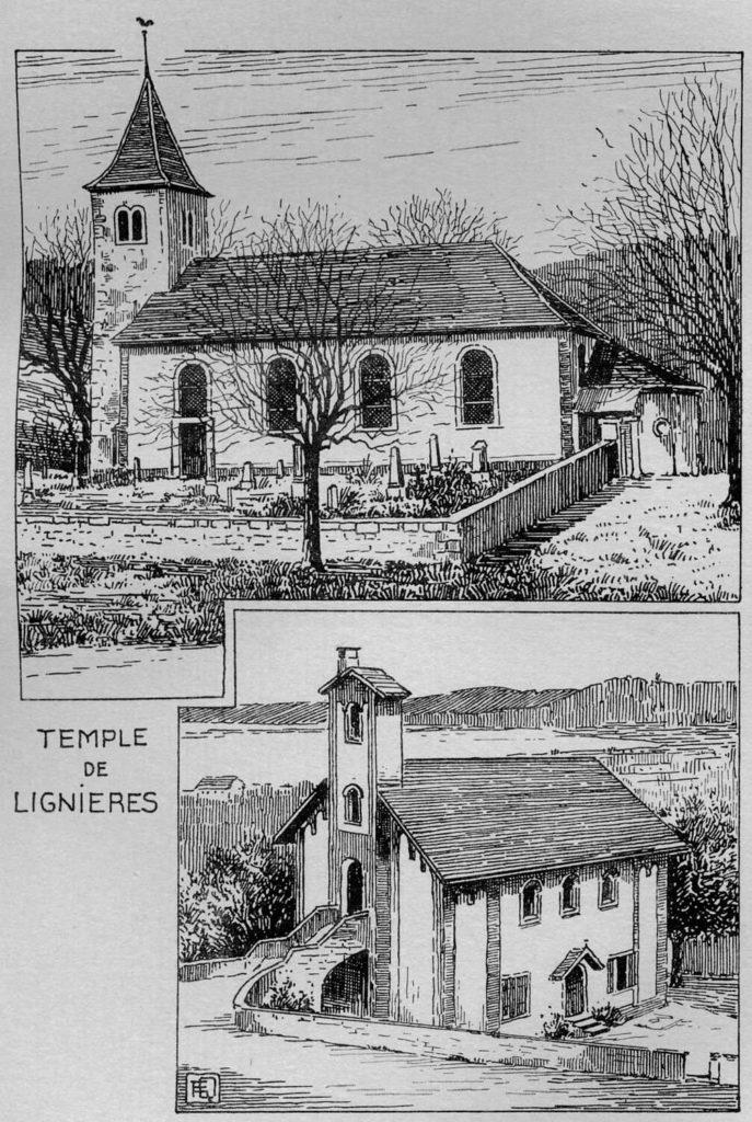 Temple de Lignières et chapelle du Landeron